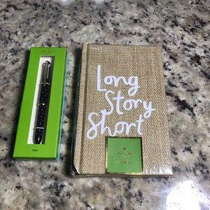 Kate Spade Hardcover journal & gel Pen